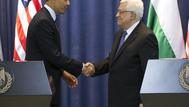 obama pushes for mideast peace talks to resume cbs news