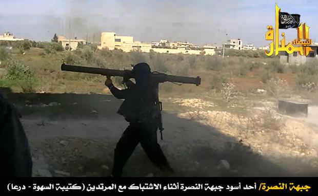 Jabhat al-Nusra posts image of rebel with anti-tank rocket