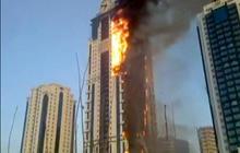 Watch: Fire engulfs Russia skyscraper