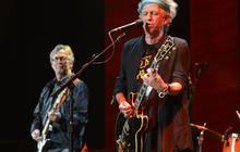Keith Richards, John Mayer, Keith Urban rock with Eric Clapton