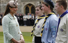 Duchess Kate steps out at scouts ceremony