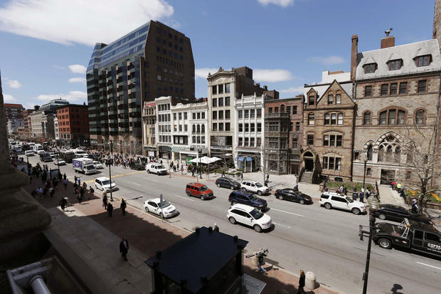 Boston's Boylston St. reopens