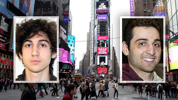 Tsarnaev brothers splitscreen on Times Square