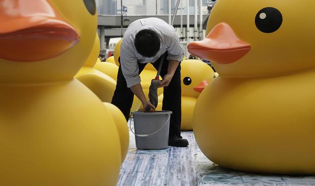It's a bird, a plane - a giant rubber duck