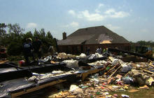 Texas tornadoes: Digging through the destruction