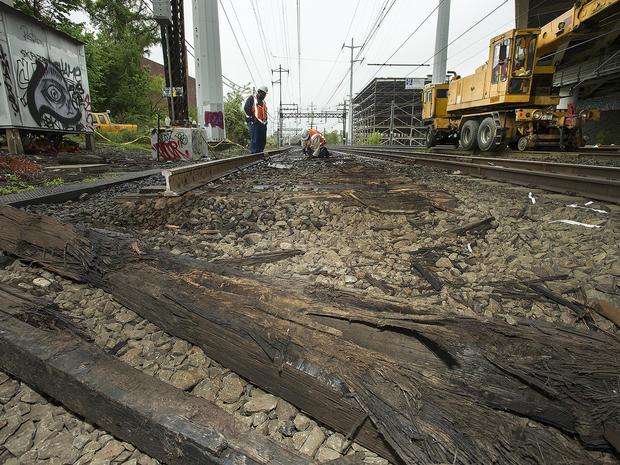 地铁北,MTA,铁路,火车,出轨,维修