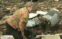 Bowser and Barbara: Dog owner's joy amid Okla. rubble