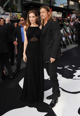 """Pitt, Jolie at """"World War Z"""" London premiere"""