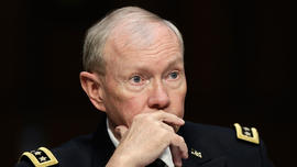 Chairman of the Joint Chiefs of Staff Gen. Martin Dempsey testifies with U.S. military leaders before the Senate Armed Services Committee on pending legislation regarding sexual assaults in the military June 4, 2013 in Washington, DC.