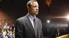 Oscar Pistorius appears in the magistrates court in Pretoria, South Africa