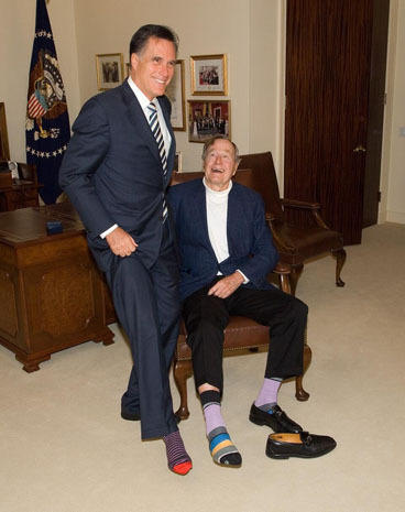 A foot-ing tribute for George H.W. Bush's birthday