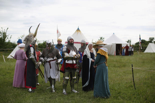 British festival-goers step back in time