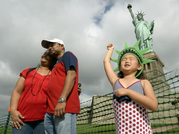 Lady Liberty back in business