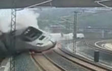 Watch: Surveillance footage of Spain train crash