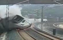 Watch: Surveillance footage of Spain train crash