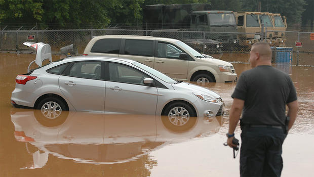 Heavy rains caused massive flooding in North Carolina Sunday, July 28, 2013.