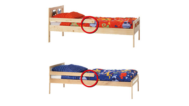 The KRITTER (top) and SNIGLAR childrens beds manufactured by IKEA ...