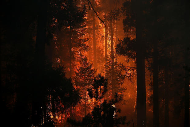 Massive fire still burning in Yosemite