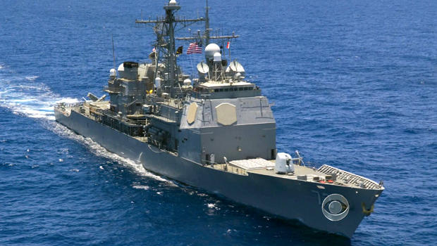The U.S. has moved four destroyers, like the one above, into the eastern Mediterranean if and when the president orders an attack on Syria.