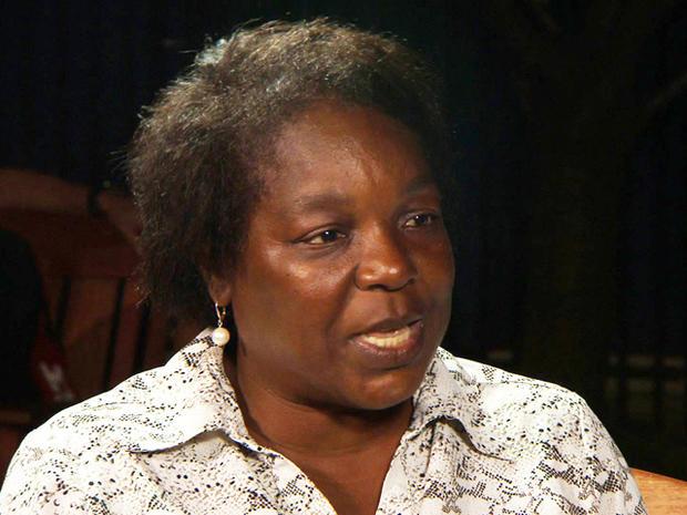 Victoria Duval的母亲Nadine。