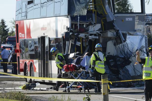 Deadly train-bus collision in Canada