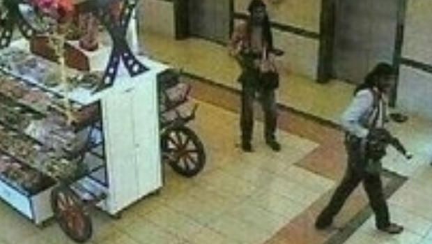 Purported al-Shabab militants in the Westgate mall in Nairobi