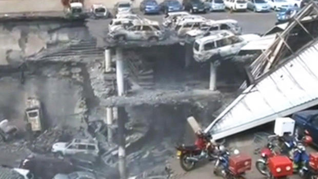Video released by the Kenyan government shows the damage to the Westgate Mall