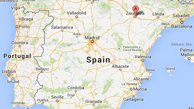Zaragoza Map Of Spain.Spain Google Maps Imsa Kolese