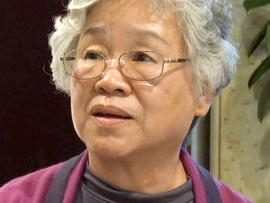 Myunghee Bae, the mother of Kenneth Bae, an American man detained in North Korea for the past 11 months, speaks at a hotel in Pyongyang, North Korea, Oct. 11, 2013, after meeting with his son at a hospital.