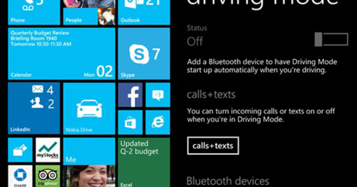 Microsoft's Phone Update To Feature Driving Mode, Large