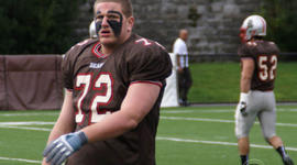 Brown University junior Dillon O'Carroll decided to give up football after suffering his third concussion. A new report finds that in 2009, 250,000 athletes age 19 and younger were treated for concussions.