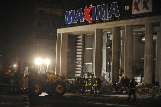 Store collapse kills dozens in Latvia