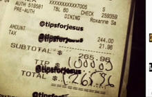 Who is the mystery customer giving $1,000 tips to servers?