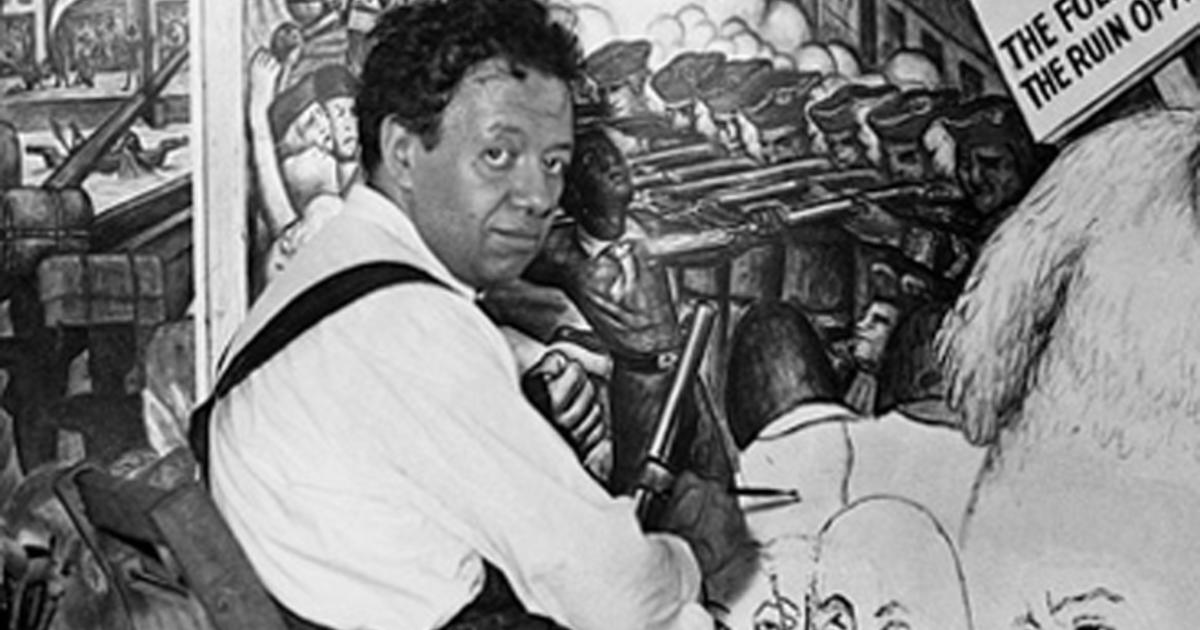 Almanac diego rivera cbs news for Diego rivera mural in san francisco