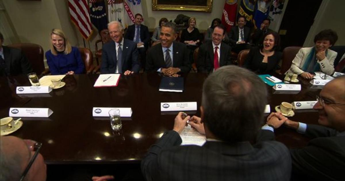 obama jokes with netflix executive about house of cards videos cbs news. Black Bedroom Furniture Sets. Home Design Ideas