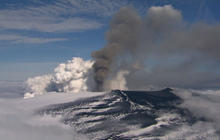 The majesty of an erupting volcano