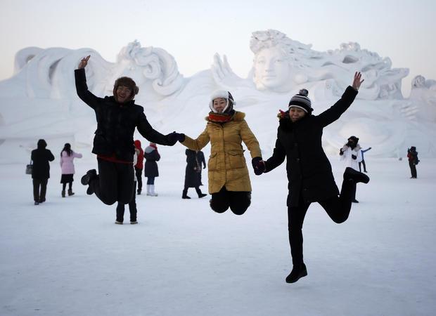 Winter wonderland at ice sculpture festival