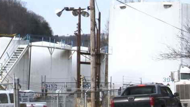 Chemical spill from this Franklin Industries plant in Charleston, W. Va. into Elk River prompted order that no one in nine counties use tap water for bathing, drinking or doing laundry