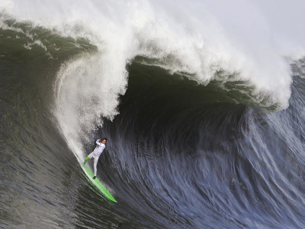 Big waves at Mavericks Invitational