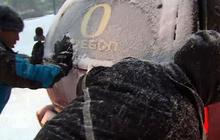 Rare snowstorm in Oregon