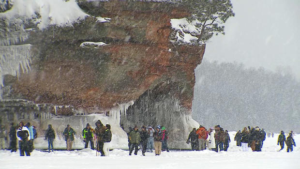 Lake Superior's dazzling ice caves