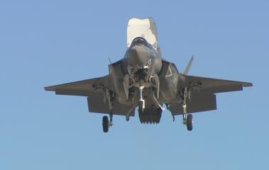The F-35's vertical landing