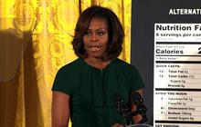 Michelle Obama hails nutrition label overhaul