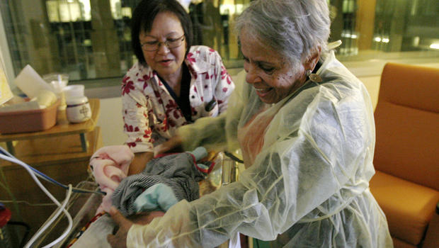 Volunteers Cuddle Babies At Hospitals To Boost Health