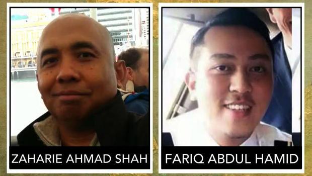 Malaysia Airlines Flight 370 pilot Zaharie Ahmad Shah and co-pilot Fariq Abdul Hamid