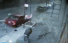 Security camera captures East Harlem building explosion