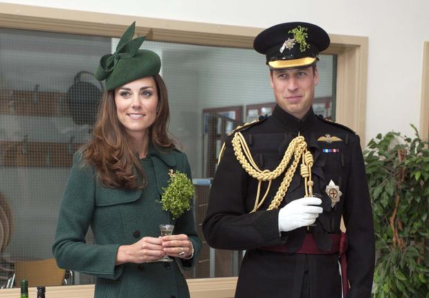 Pretty in green: Duchess Kate