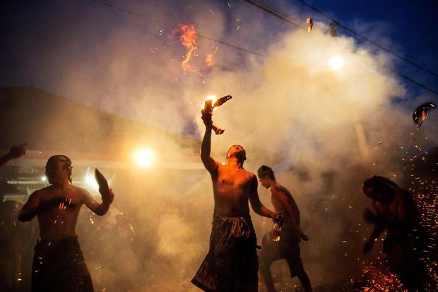 Bali fire festival
