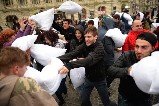 International Pillow Fight Day