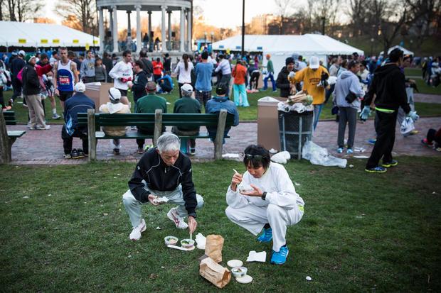 """Boston Marathon - Tight security for """"Boston Strong ..."""